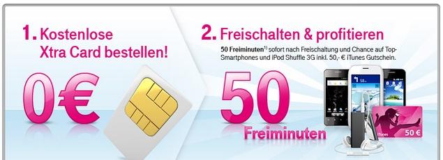 Kostenlose SIM Karte der Telekom (XtraCard)