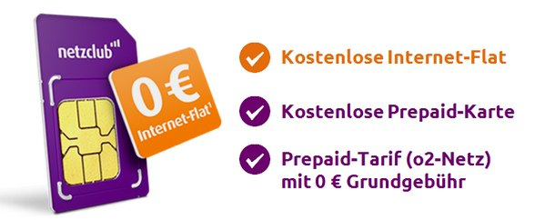 Kostenlose SIM-Karte vom netzclub